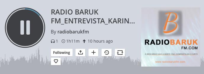 entrevista na rádio Baruk